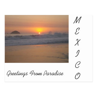 Een zonsondergang in Mexico Briefkaart