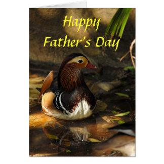 Eend, Gelukkig Vaderdag Wenskaart