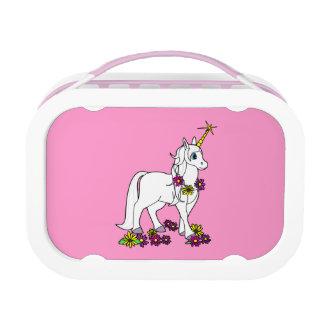 Eenhoorn met het Roze van Bloemen Lunchbox