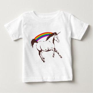 Eenhoorn met regenboog baby t shirts