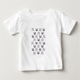 Eenhoorns en Panda's Emoji in Glitter Baby T Shirts