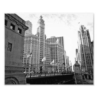 Eenvoudig Chicago Foto Afdrukken