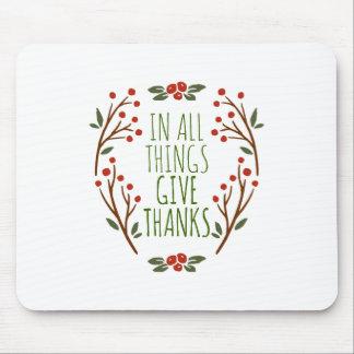 Eenvoudig geef de Thanksgiving van het Bedankt   Muismat