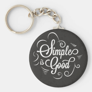 Eenvoudig is het goede motivatie het levenscitaat basic ronde button sleutelhanger