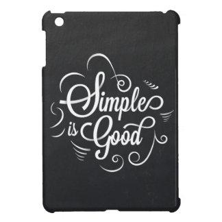 Eenvoudig is het goede motivatie het levenscitaat iPad mini cases