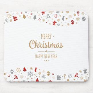 Eenvoudig Kerstmis Ditsy en Nieuwjaar | Mousepad Muismatten