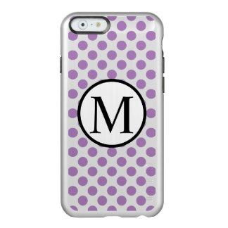 Eenvoudig Monogram met de Stippen van de Lavendel Incipio Feather® Shine iPhone 6 Hoesje