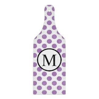 Eenvoudig Monogram met de Stippen van de Lavendel Snijplank