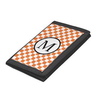 Eenvoudig Monogram met Oranje Schaakbord