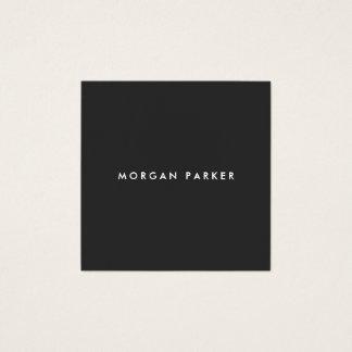 Eenvoudig Professioneel Modern Zwart Vierkant Vierkante Visitekaartjes