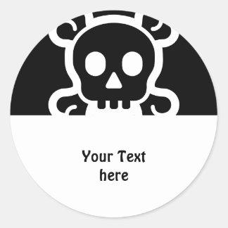 Eenvoudig Symbolen - SCHEDEL & BOT + uw ideeën Ronde Sticker