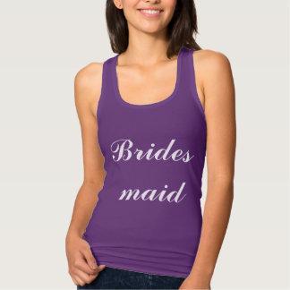 Eenvoudig van de Huwelijken van het bruidsmeisje Tanktop