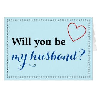 """Eenvoudig """"zult u mijn echtgenoot?"""" zijn Kaart"""