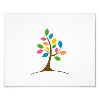 eenvoudige boom kleurrijke bladeren graphics.png foto afdruk