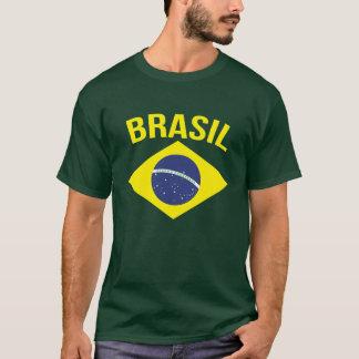 Eenvoudige Braziliaanse de vlag groene t-shirt van