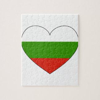 Eenvoudige de Vlag van Bulgarije Puzzel