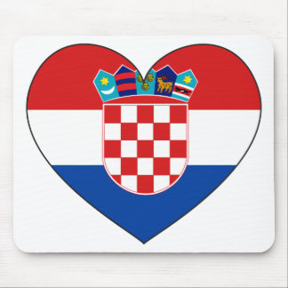 Eenvoudige de Vlag van Kroatië Muismatten