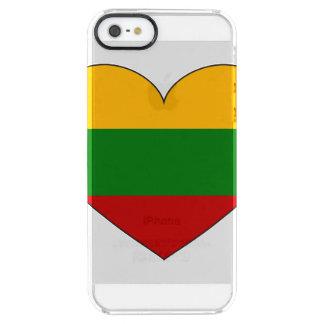 Eenvoudige de Vlag van Litouwen Doorzichtig iPhone SE/5/5s Hoesje