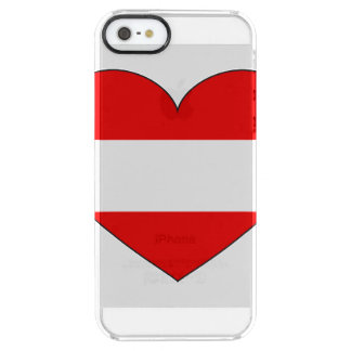 Eenvoudige de Vlag van Oostenrijk Doorzichtig iPhone SE/5/5s Hoesje