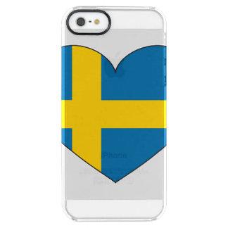 Eenvoudige de Vlag van Zweden Doorzichtig iPhone SE/5/5s Hoesje