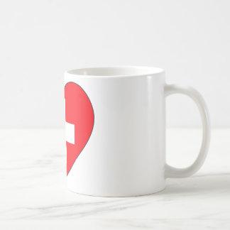 Eenvoudige de Vlag van Zwitserland Koffiemok
