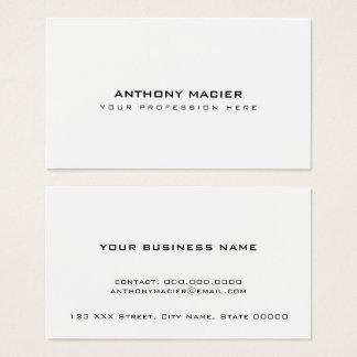 eenvoudige duidelijke duidelijke witte minimaal visitekaartjes