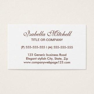 Eenvoudige elegante generische bedrijfs of visitekaartjes