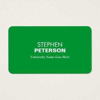 Eenvoudige en Moderne Groene Gediplomeerde Student Visitekaartjes