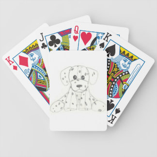eenvoudige hondkrabbel kinder zwarte witte poker kaarten