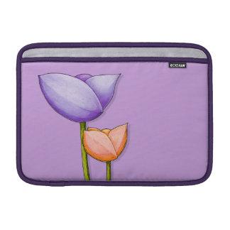 Eenvoudige Lucht 11 van MacBook van Bloemen paarse MacBook Beschermhoes