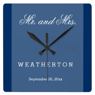 Eenvoudige M. en Mevr. Wedding Names van de Stijl Vierkante Klok
