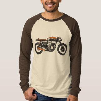 Eenvoudige Motorfiets - de Tekening van de T Shirt