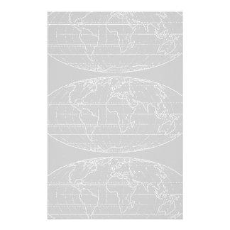 eenvoudige planisphere/kaarten briefpapier