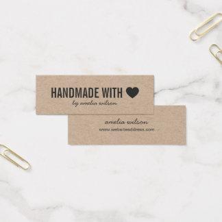 Eenvoudige Rustieke Met de hand gemaakt van het Mini Visitekaartjes