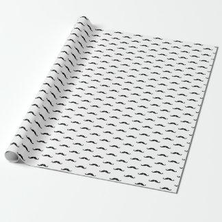 Eenvoudige snor, zwart, verjaardag inpakpapier