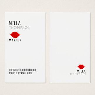 eenvoudige verticale de salon witte pro van de visitekaartjes