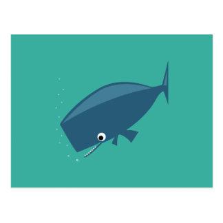 Eenvoudige Walvis op Groen Briefkaart