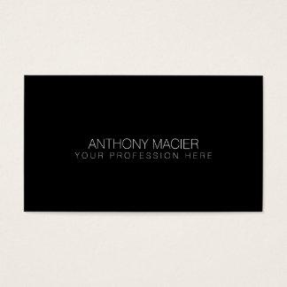 eenvoudige zwarte kleur om te personaliseren visitekaartjes