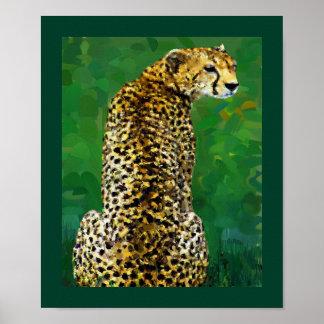 Eenzame Jachtluipaard Poster