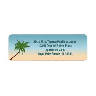 Eenzame Palm Etiket