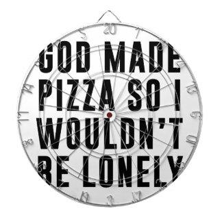 Eenzame pizza dartbord