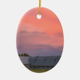 Eenzame Schuur Keramisch Ovaal Ornament