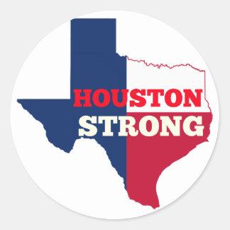 """Eenzame Ster """"Sterk Houston """" Ronde Sticker"""
