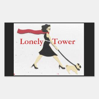 Eenzame Toren Rechthoekige Sticker