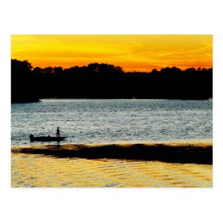 Eenzame Visser Briefkaart