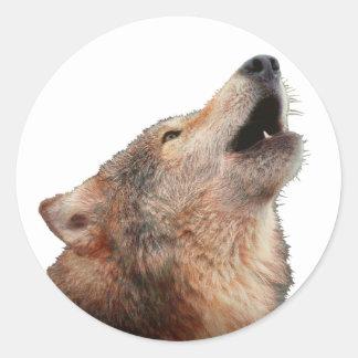 Eenzame Wolf - multi-Producten Ronde Sticker