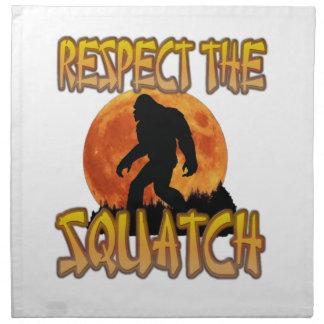 Eerbiedig Squatch Katoenen Servet