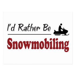 Eerder ben Snowmobiling Briefkaart