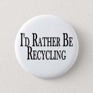 Eerder recycleert ronde button 5,7 cm