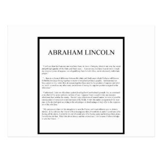 Eerlijke afwisselende lay-out Abe Briefkaart